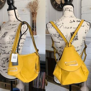 Kathy Ireland Convertible Mini Backpack   Mustard